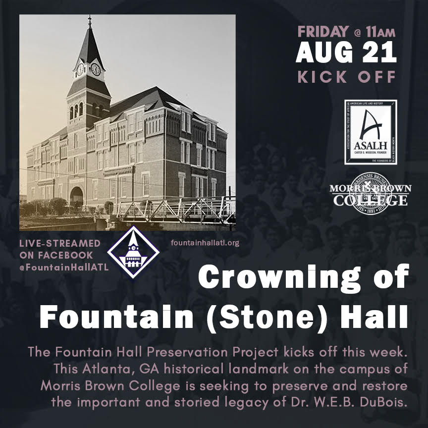 Flyer - Crowning of Fountain Hall at Morris Brown College